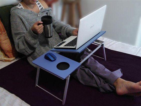 Mesa de cama para laptop lo que quiero pinterest - Notebook con porta parallela ...