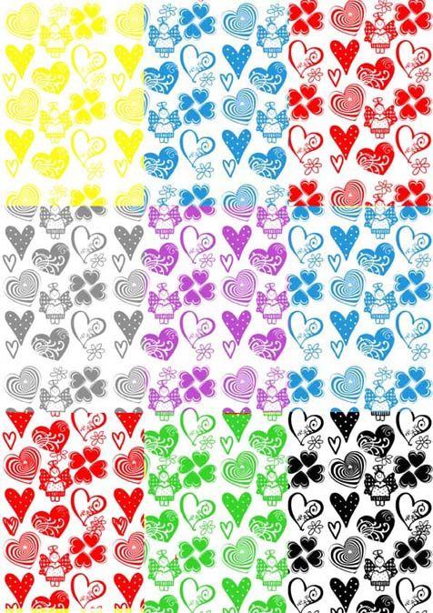 Papel para Imprimir - Corações em Patchwork - Vera Young