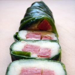 St. Patrick's Day - corned beef and mashed potatoes rolled in blanched cabbage leaves
