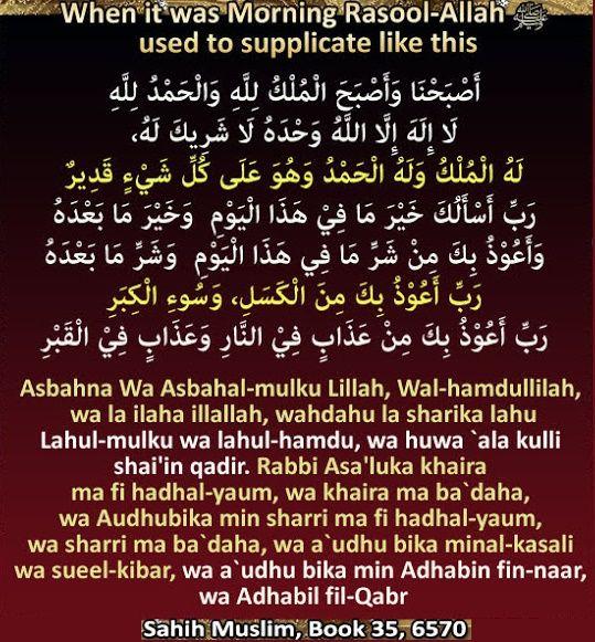 Bmillahir Rahamnirrahim Azkar To Recite In The Morning Abdullah Radi Allahu Anhu Reported That Muslim Book Truth Quotes Allah