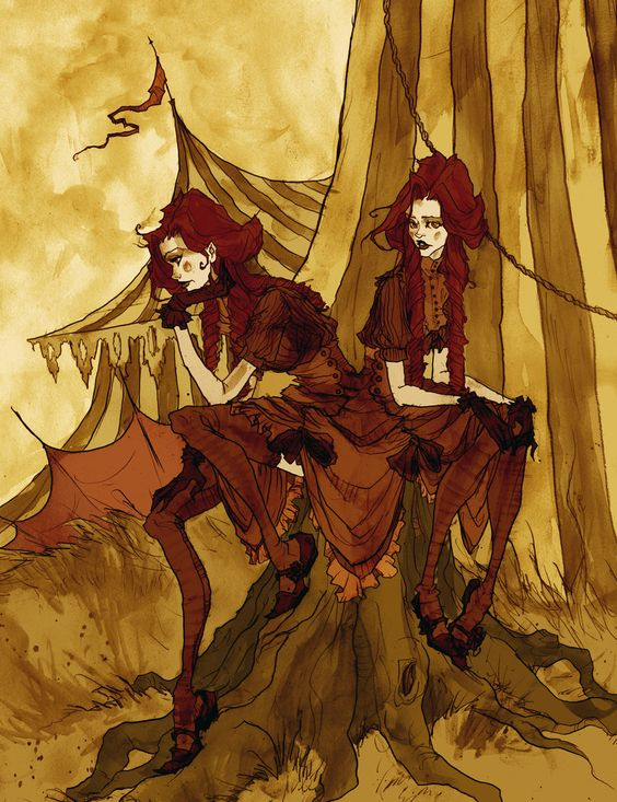 The Conjoined Twins by MirrorCradle from her Murdoch's Carnival of Curiosities collection which is amazing!