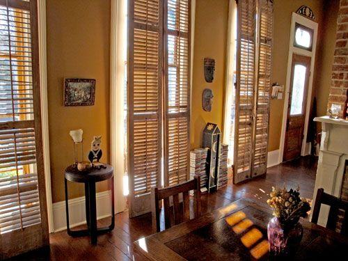 Tall Shutters From A New Orleans Shotgun Home