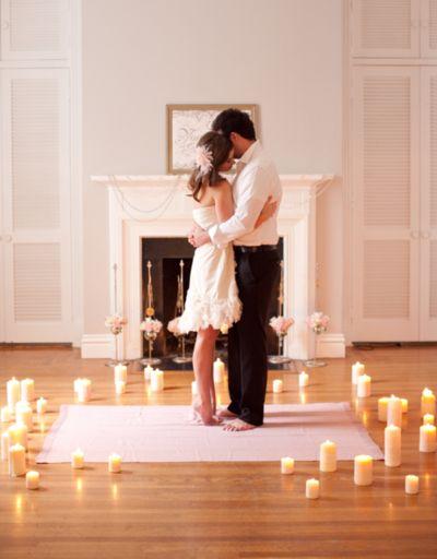 Gyertyás romantika