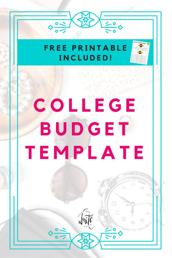 university student budget template