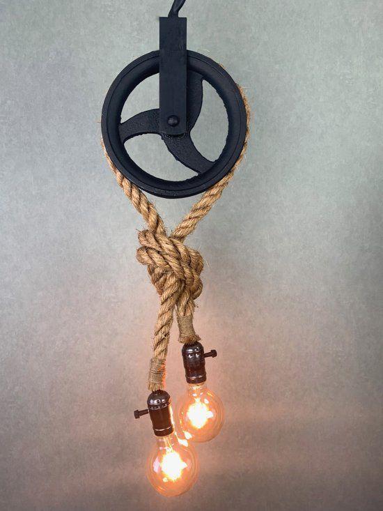 Bol Com Industriele Katrollamp Touwlamp Touw Lamp Industriele Hanglampen Industriele Lampen