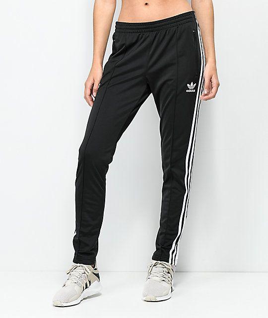 adidas 3 Stripe Black Track Pants in 2020 | Adidas pants ...