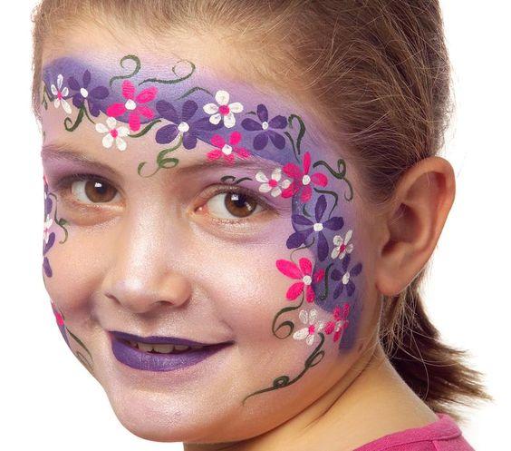 maquillage enfant couronne de fleurs maquillages enfants pinterest peintures de visage. Black Bedroom Furniture Sets. Home Design Ideas
