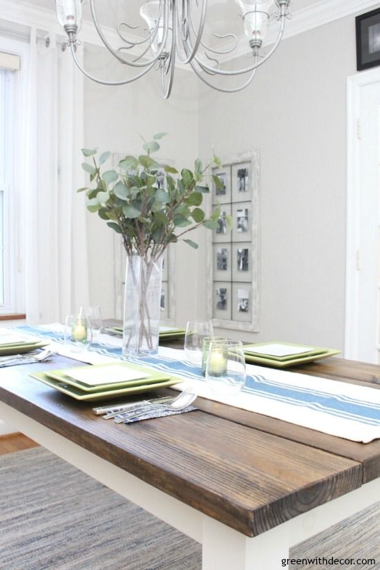 An Easy Blue And Green Tablescape Light Grey Paint Colors Light