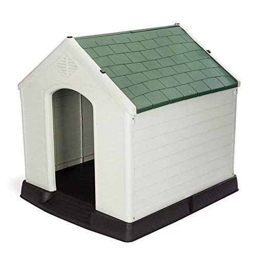 Plastic Dog House Waterproof Indoor Outdoor Pet Shelter Extra