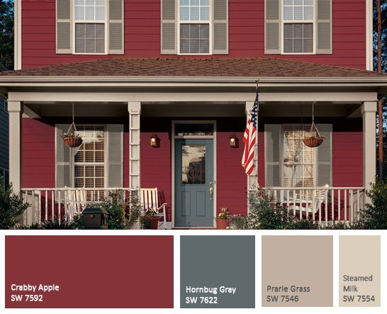 28 Inviting Home Exterior Color Ideas | Front doors, Doors and Red ...