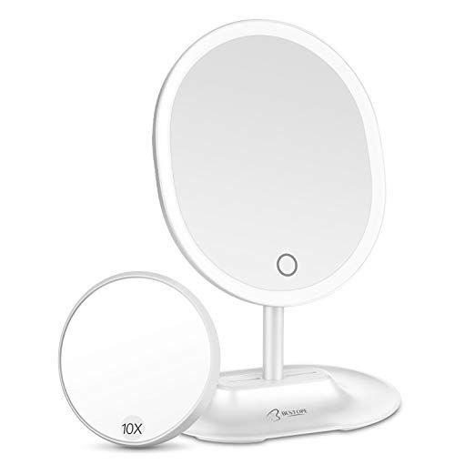 Bestope Led Makeup Mirror With 1x 10x Magnification Natural Lighted Vanity Mirror Touch Screen Usb Led Makeup Mirror Lighted Vanity Mirror Makeup Mirror