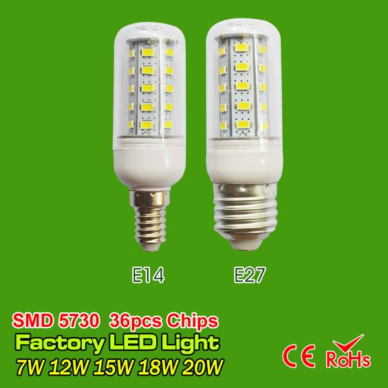 $2.96 (Buy here: http://appdeal.ru/4iyi ) Hot LED Corn bulb SMD5730 E27 E14 LED lamp 110V 220V 7W 9W 12W 15W 20W bulbs lihgt 24&36&48&56&69led  Warm White Cold White for just $2.96