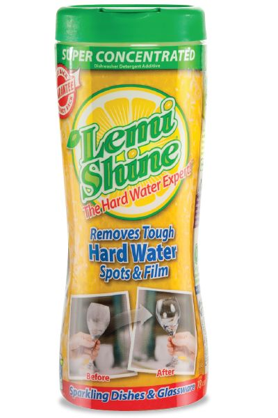Lemi Shine is the absolute best product I have EVER used in my dishwasher. Removed all the hard water residue (and it was bad!!!) and keeps all the spots and buildup off my dishes and glasses. What a Godsend!  ~T