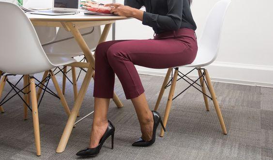 Betabrand Crop | Marsala Dress Pant Yoga Pants
