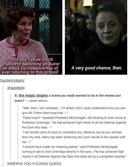 This is one of my favorite scenes in the book, and I so wish they had included it in the movie