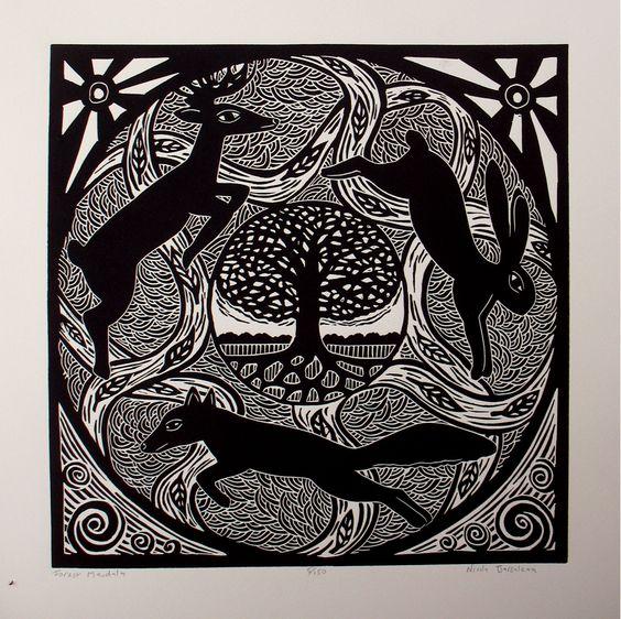 Forest Mandala - Nicola Barsaleau: Printmaking Etsy, Barsaleau Forest, Gorgeous Printmaking, 117038573 Forest