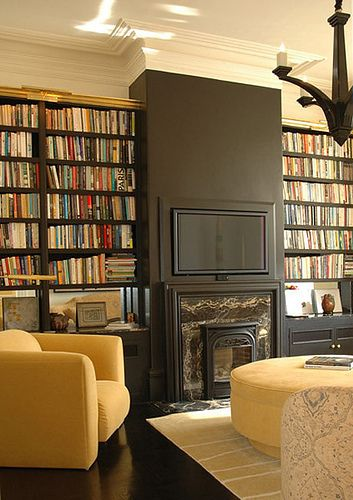 Bookshelves and mantles