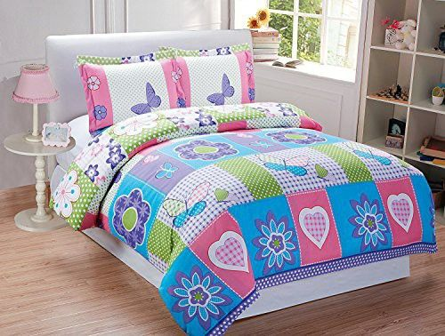 MK Home Mk Collection 3pc Twin Sheet Set Butterfly Turquoise Purple Pink White New
