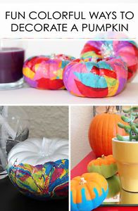 Fun Colorful Ways to Decorate a Pumpkin | eBay