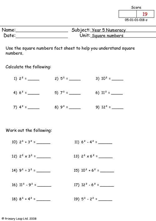 Year 5 Numeracy Numbers Printable Resources Free Worksheets For Kids Primaryleap Co Uk In 2020 Pre Algebra Worksheets Number Worksheets Free Worksheets For Kids