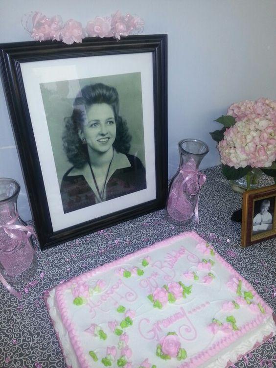 Granny 39 s 90th birthday diy decorations do it yourself for Do it yourself centerpieces for birthday