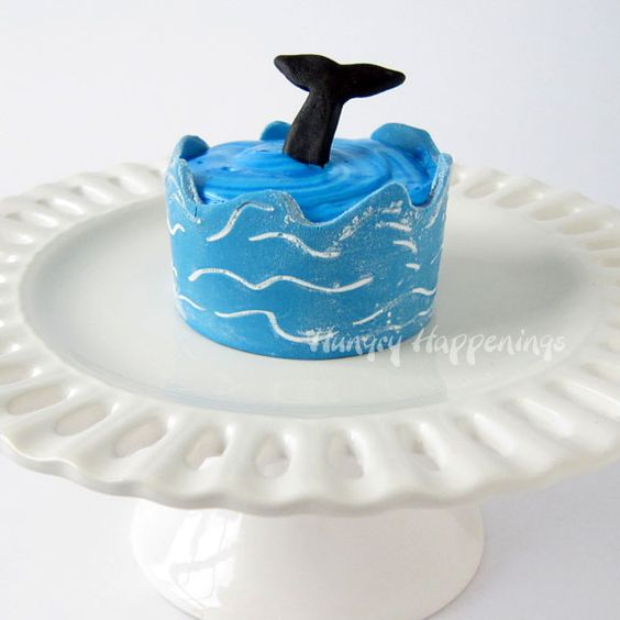 Hungry Happenings: Wrap your Ocean Themed Cupcakes in Edible Cupcake Wrapper Waves.