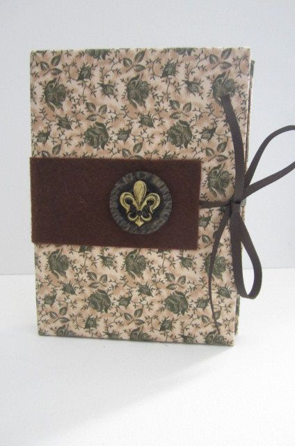 Green and Tan Floral Pattern with Fleurde lis by TheElegantLady, $15.00