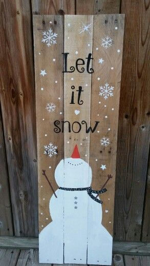 Popular Let it snow sign. Made in utopia.
