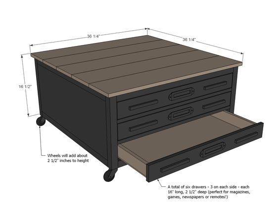 Coffee tables, Easy diy projects and Drawers on Pinterest