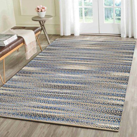 Lr Home Natural Fiber Blue Indoor Area Rug 7 9 Inch X 9 9 Inch