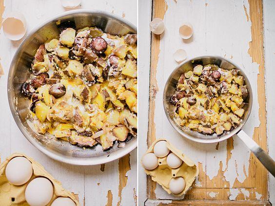 Ovos rotos de batata doce