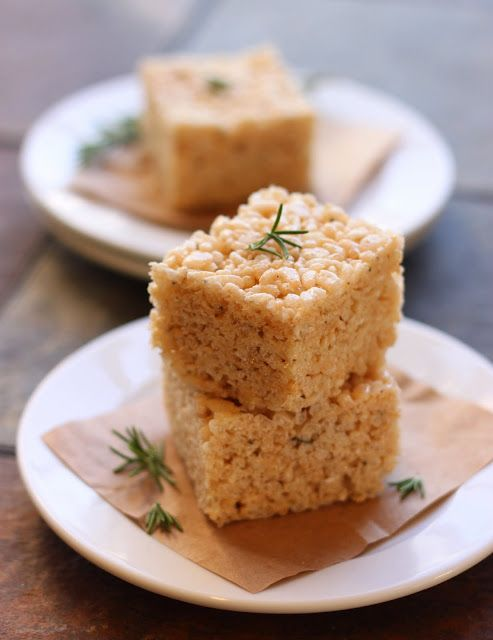 rosemary rice krispie squares. i am obsessed with rosemary, even in dessert!