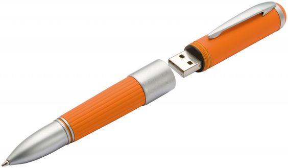 Kugelschreiber mit 2 GB USB-Stick orange bei www.quick-werbeartikel.de/ unter http://www.quick-werbeartikel.de/detail/index/sArticle/2700001462