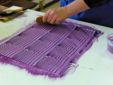 Kombinationstechniken - Impressionen - Buntpapier-Manufaktur