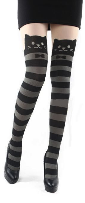 Cat leggings.      Just thought of you Am.