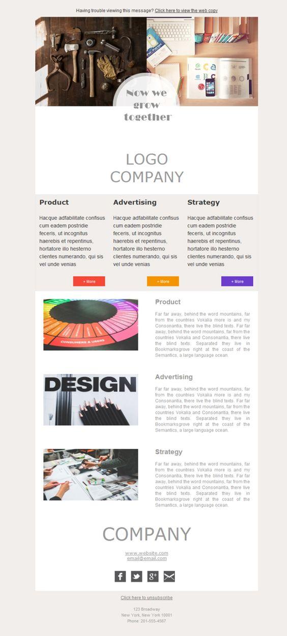 ¿Buscas plantillas newsletter para una agencia de Marketing y Publicidad? Con Mailify tienes la solución. Éste es tu lugar, mira cuántos colores y diseños personalizables, ¡aprovecha!