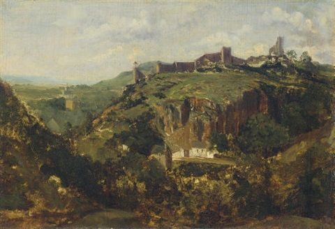 Theodore Rousseau French 1812 1867 Title Bourg En Auvergne Ca 1830 Theodore Rousseau Oil Painting Nature Landscape Paintings