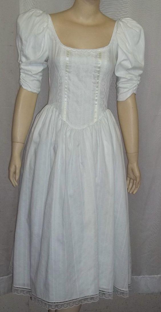 Vintage 1980 39 S Gunne Sax Jessica Mcclintock Prairie Short