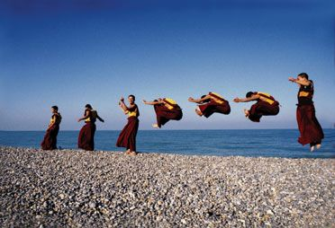 : Monks Jumping, Buddhist Monk, Tibetan Monk, Jumping Monks, Inspirational Quotes, Happiness Quotes, Matthieu Ricard