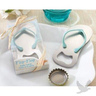 """""""Pop the Top"""" Flip-Flop Bottle Opener #favor #beach #wedding"""
