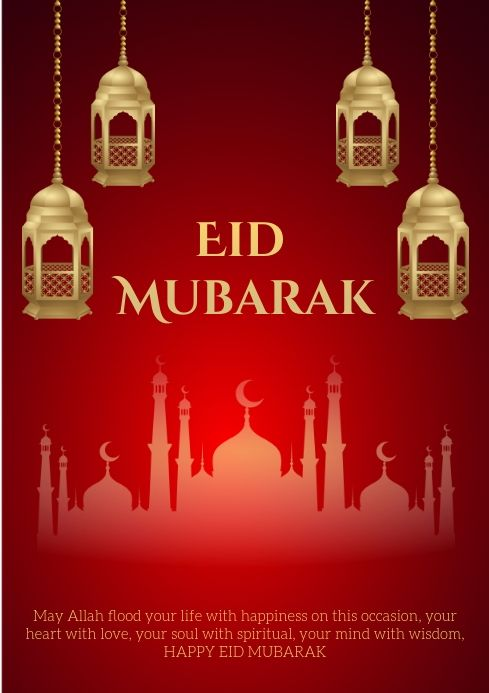 Pin By Postermywall On Eid Poster Templates Eid Eid Greeting Cards Eid Greetings