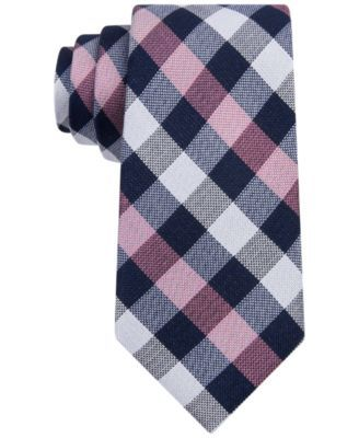 Add brilliant color and modern style to your workwear with this Buffalo Check slim tie from Tommy Hilfiger. | Silk | Dry clean | Imported | Slim design | 2.75'' wide | Check pattern | Web ID:2972205