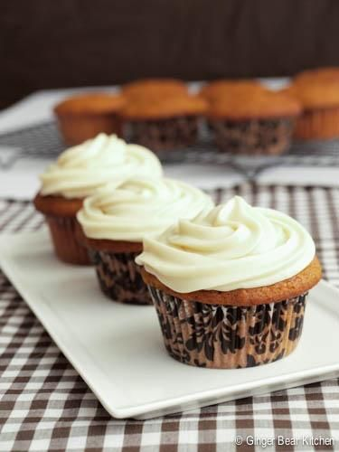 Cupcake Recipes : Pumpkin Cupcakes with Bourbon Maple Frosting