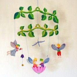 Kinderkram Wooden Baby Mobile - Flower Fairy