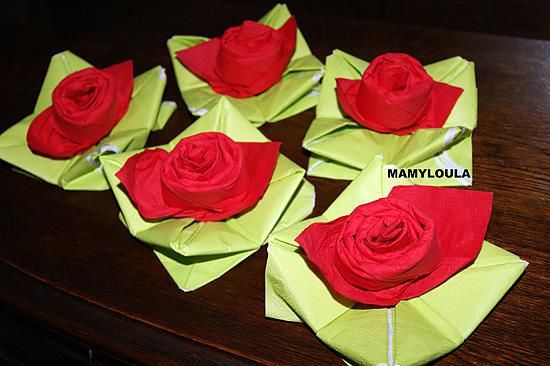 recette pliage de serviette rose plus pliages de pliage de serviettes