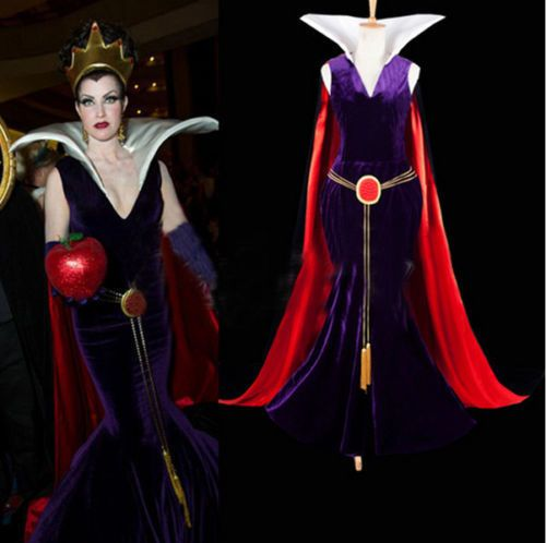 Snow White Evil Queen Shining Crown Dress Costume Movie Cosplay Magic Witches  #Handmade #CompleteOutfit #cosplayparty