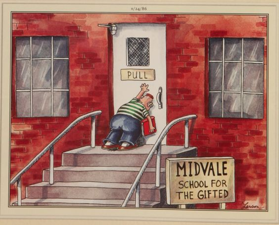 First day of school can be tough : Farside
