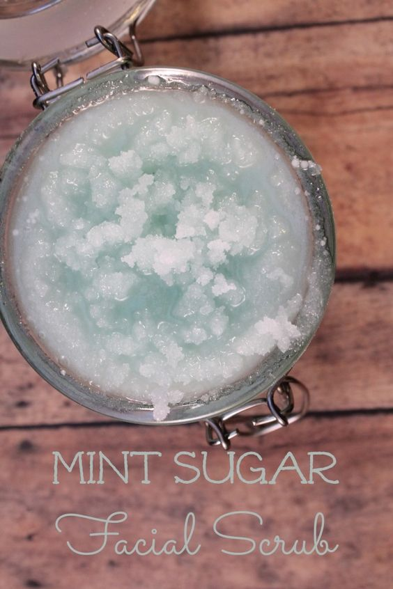 Mint Sugar Facial Scrub #DIY This looks like a really nice one. Can't wait to try it.