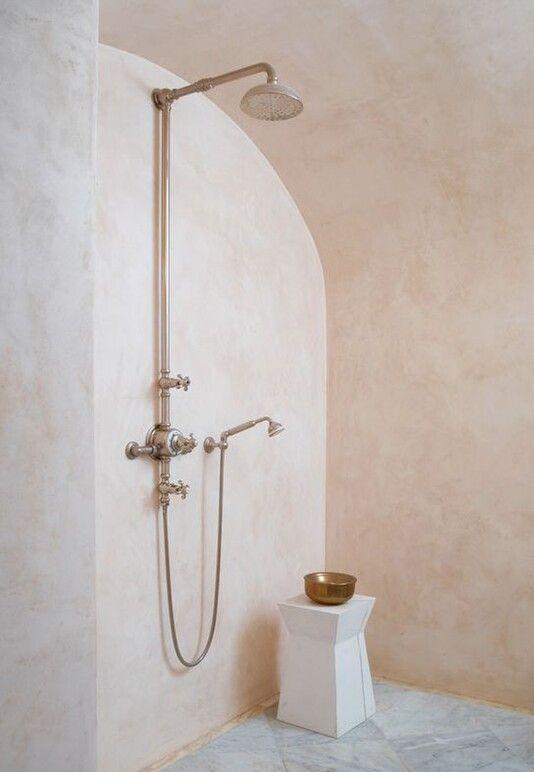 Marmorino Venetian Plaster Bathroom Polished Plaster Pink Bathroom Microcement