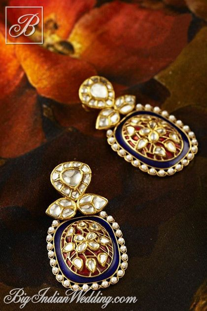 Jaipur Gems kundan earrings | Bridal Jewellery